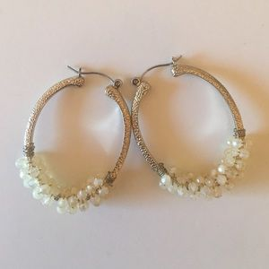 Banana Republic Cluster Hoop Earrings