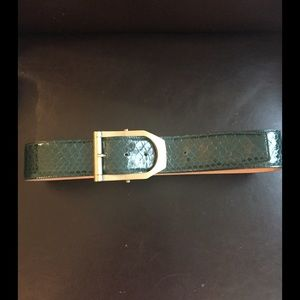 Escada Accessories - Escada Python Leather Belt