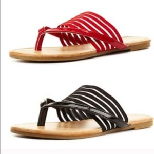 Sunny Feet Shoes - NIB: SHEER STRIPED BANDED FLIP FLOP!