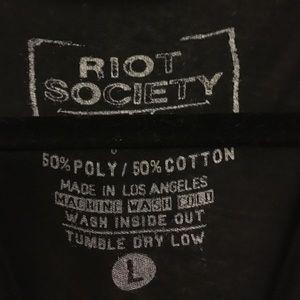 riot society Tops - Riot society black graphic tee