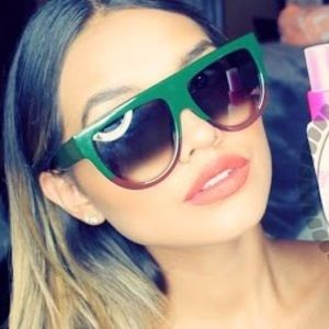 fd1669ea667 Celine Accessories - Celine SHADOW Green blonde sunglasses