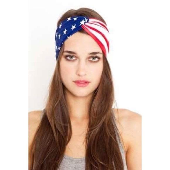 Forever 21 Accessories - 🎉SALE American Flag Twist Turban Headband👑 e3cbb9b145f