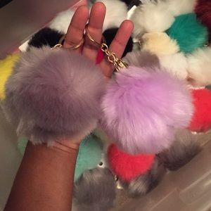 Fur ball key chains