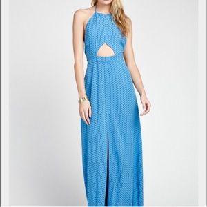 Wildfox keyhole halter maxi dress