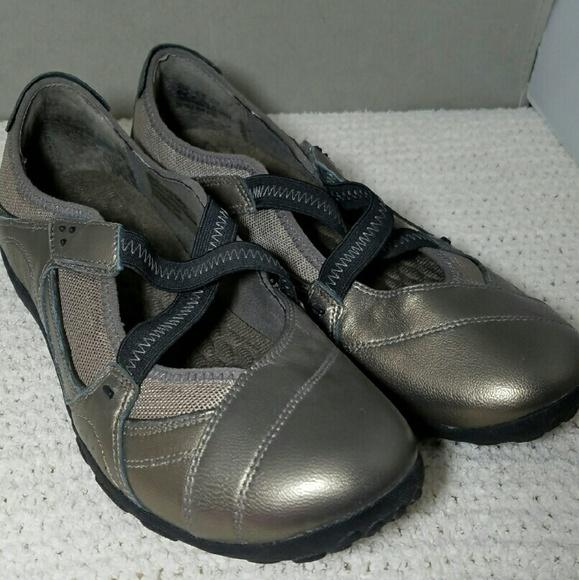 PRIVO Sz 8.5 Metallic Brown Loafer Shoes