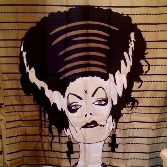 Shower Curtain Bride Of Frankenstein Mugshot M 57b41abea88e7d93570c3929