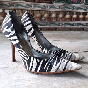 GUESS Shoes - Guess Zebra Satin Pumps