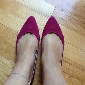 BDG Sueded flats in  deep pink
