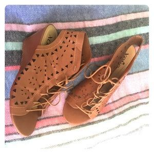 Lace-Up Wedge Sandle - Like New!