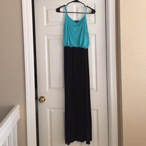 Dresses & Skirts - Black and Teal Maxi Dress