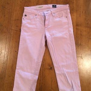 AG Jeans. The Stevie Ankle, slim straight leg