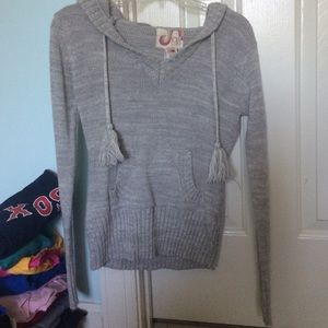 Cozy knit hooded sweater