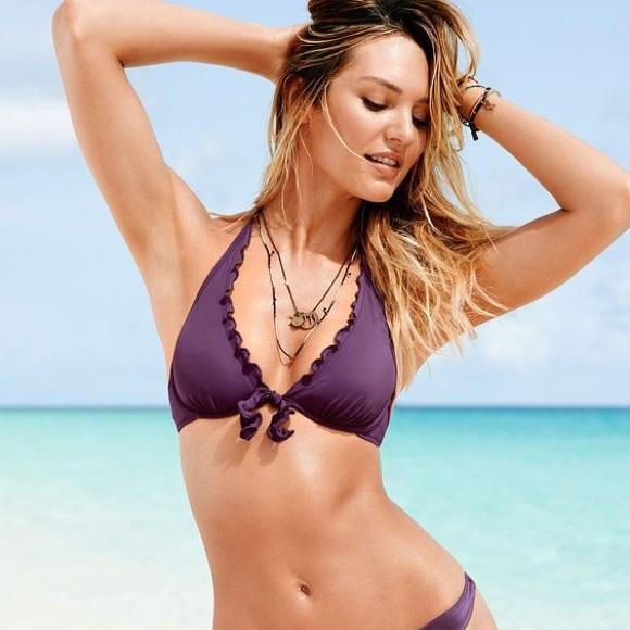 27b251e174 Victoria's Secret High Tie Halter Bikini Top. M_57b481ce41b4e03d5a003ba8