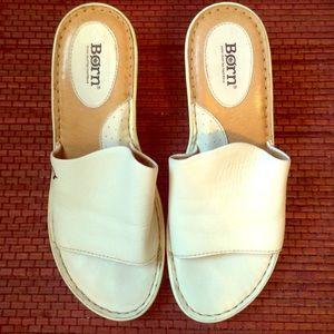 "BORN ""Tilda"" Leather Platform Wedge Sandal"