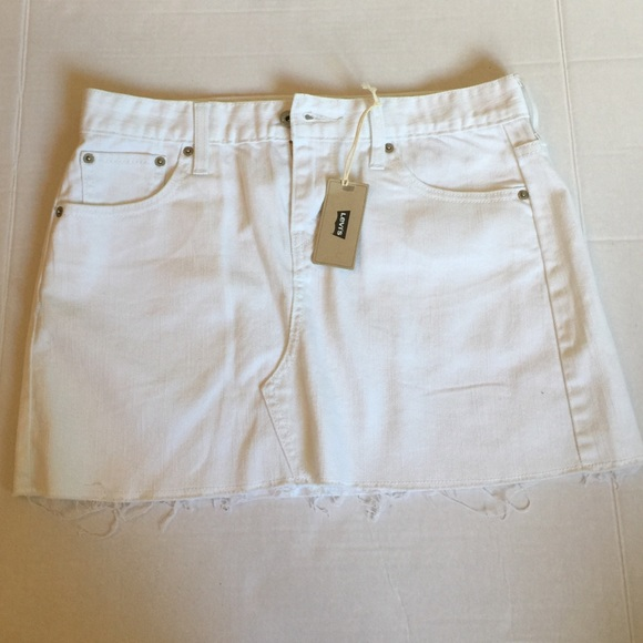 82 levi s dresses skirts levi s white jean skirt