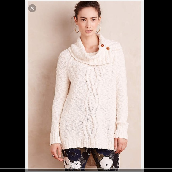 57% off Anthropologie Sweaters - Moth Cowl Neck Sweater ...