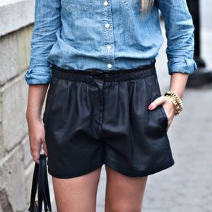Zara Pants - Zara Faux Leather Shorts