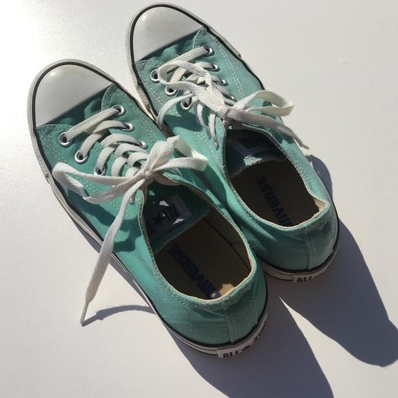 Womens Mint Green Converse Shoes
