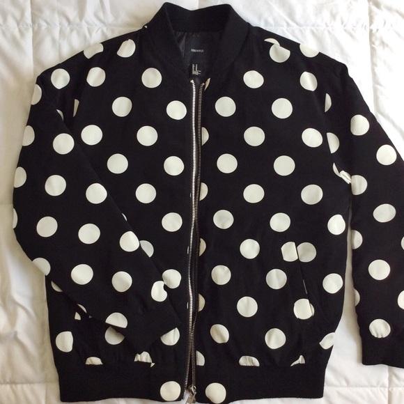 7a728c9fa forever 21 polka dot bomber jacket