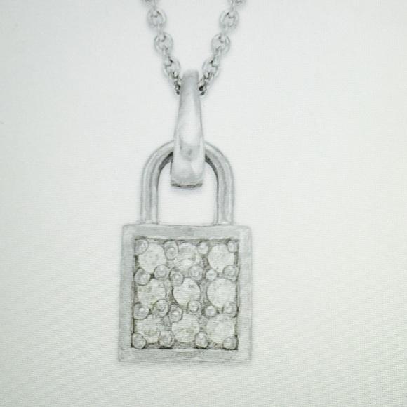 Jewelry - Giani Bernini Sterling Silver lock pendant