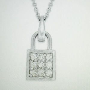 Giani Bernini Jewelry - Sterling Silver lock pendant