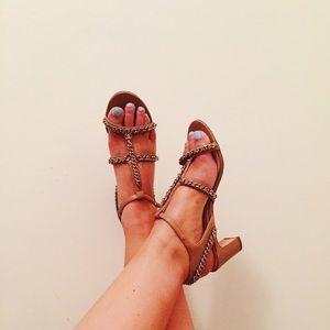 Auth Chanel Block Heels