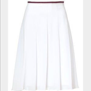 L'agence white a line pleated skirt