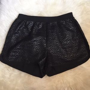 Sam Edelman Pants - Sam Edelman Black Embossed Faux Leather Shorts