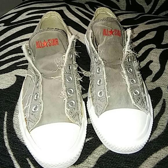 21cbc3fbf28d2b Converse Shoes - Converse Gray Slip on No lace up