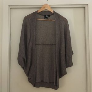 Valette Sweaters - Light gray/brown shrug sweater