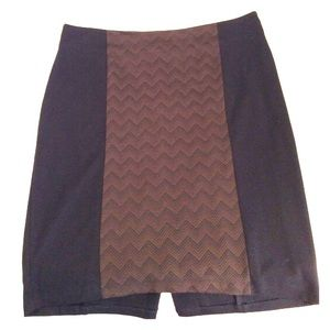 Igigi Dresses & Skirts - Igigi Brown and Black Chevron Pencil Skirt