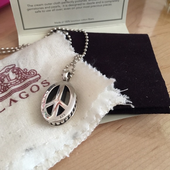 Lagos peace sign pendant long chain necklace poshmark lagos peace sign pendant long chain necklace mozeypictures Images