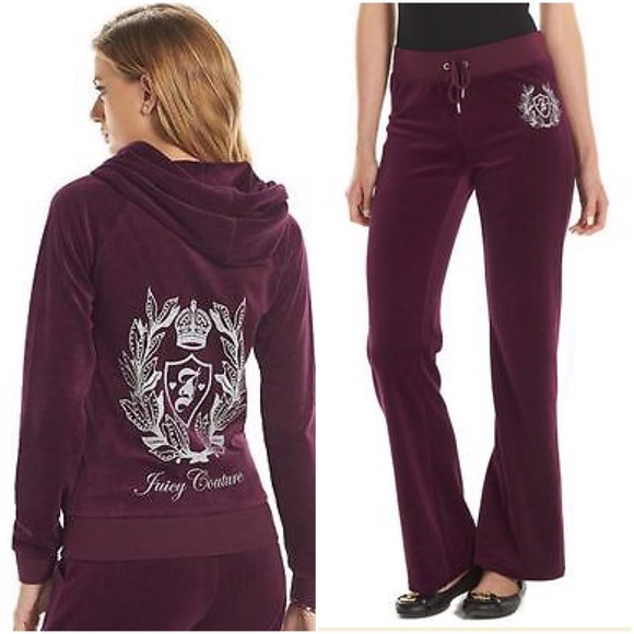 570fe823bbf JUICY COUTURE Purple Bling Crest Tracksuit