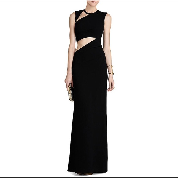 BCBGMaxAzria Dresses | Black Kimora Cutout Gown | Poshmark