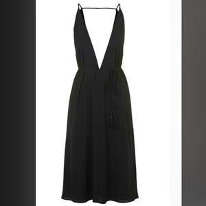 Topshop Dresses & Skirts - Top Shop deep V plunge black dress