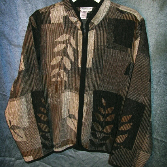 Coldwater Creek Jackets & Coats - (3/$23) Zippered Tapestry Jacket in Classic Browns