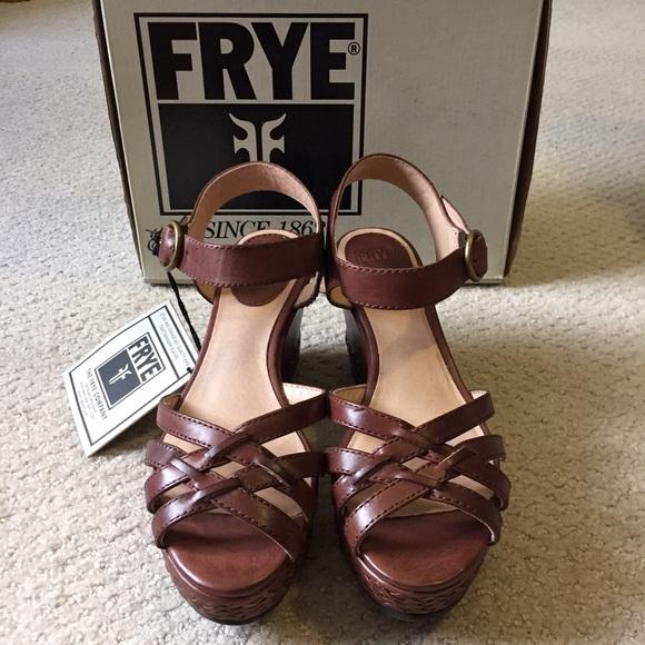 44c35301029 Frye Carlie Strappy Wedge Sandals
