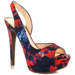 Jessica Simpson Shoes - New Jessica Simpson Printed D'Orsay Heels