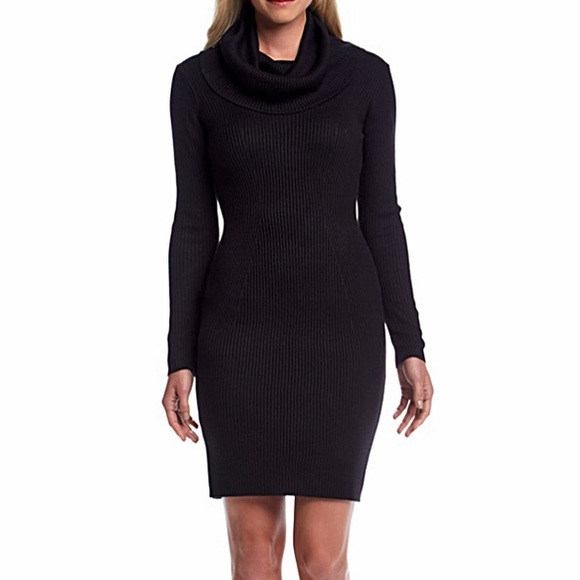 30 Off Bundles Black Cowl Neck Sweater Dress Nwt