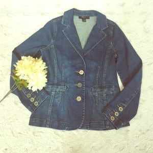 Style & Co. Denim button up jacket