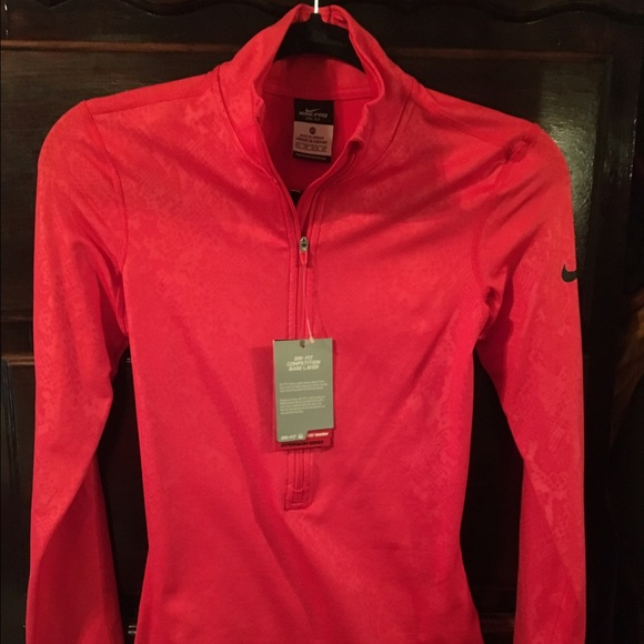 Nike Pro Dri Fit women s half zip sweater 77b68c0751