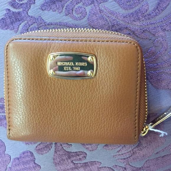 Michael Kors Bags | Brown Tan Tiny Wallet | Poshmark