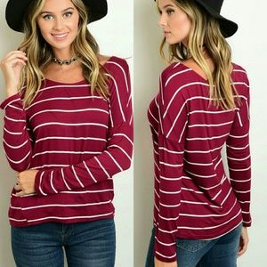 Tops - Long Sleeve Striped Top