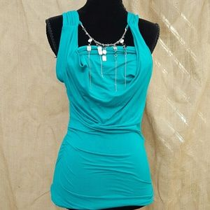 Arden B Top With Attached Necklace