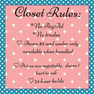 Closet Rules