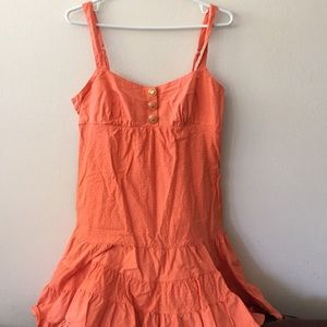 Orange BEBE summer dress
