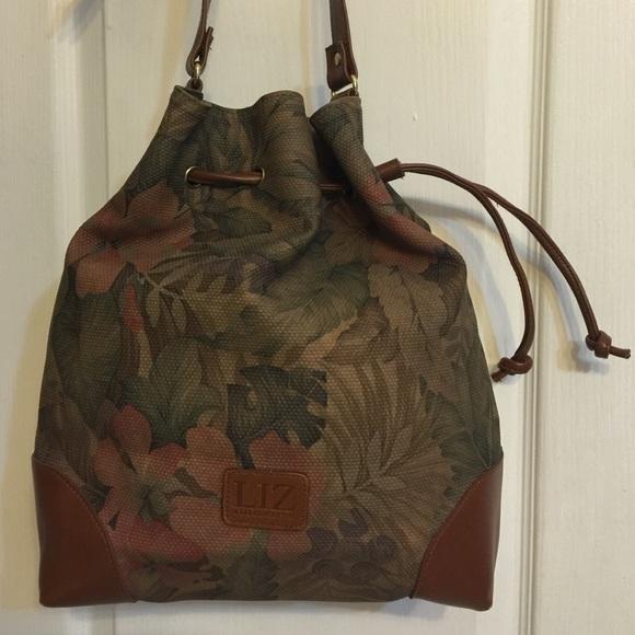 Liz Claiborne Bags   Vintage Floral Bucket Bag   Poshmark ae82f8ee1a