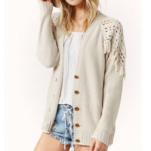 Southern Girl Fashion Sweaters - FRINGE CARDIGAN Oversized Slouchy Sweater Jacket