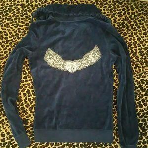 TWISTED HEART Jackets & Blazers - Twisted Heart Royal Blue Angel Wings Jacket