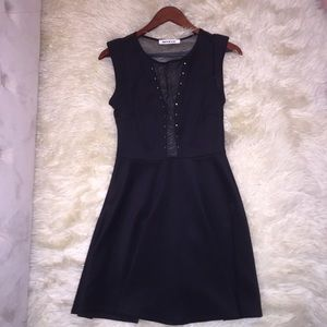 Dresses & Skirts - Black Mesh Party Dress M